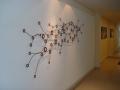 hall-painel com escultura